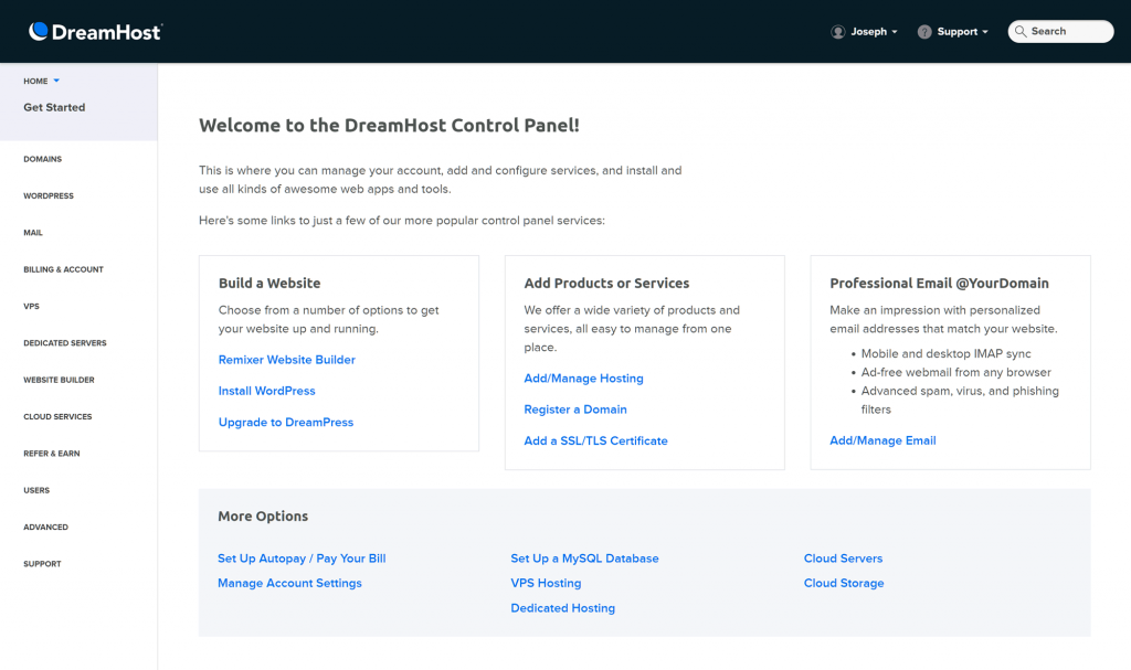 DreamHost-Control-Panel