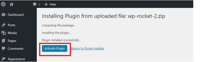 activate-wp-rocket-caching-plugin